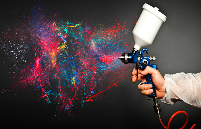how to use paint spray gun